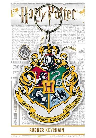 Llavero de Goma - Harry Potter (Cresta de Hogwarts) (6 x 4.5 x 0.2)