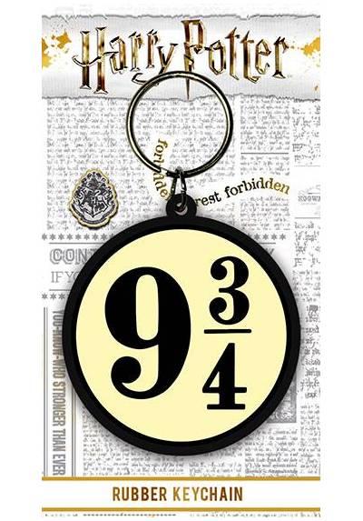 Llavero de Goma - Harry Potter (9 3/4) (6 x 4.5 x 0.2)