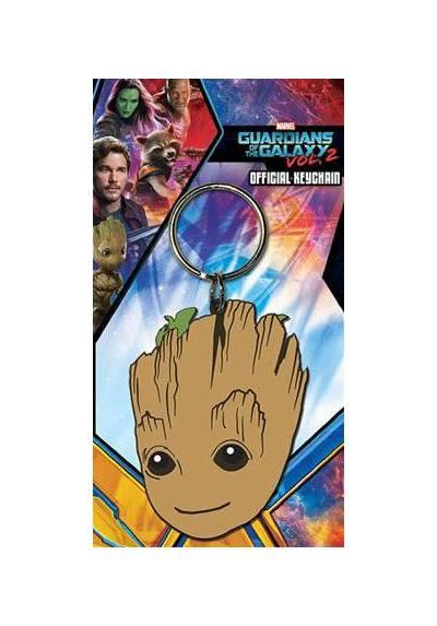 Llavero de Goma - Guardianes de la galaxia (Cara de Groot) (6 x 4.5 x 0.2)
