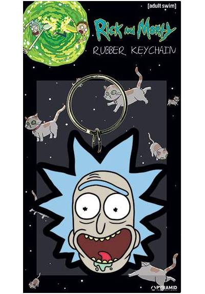 Llavero de Goma - Rick and Morty (Rick sonrisa loca) (6 x 4.5 x 0.2)