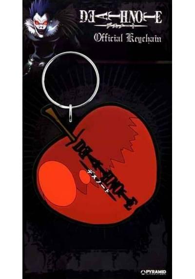 Llavero de Goma - Death Note (Manzana) (6 x 4.5 x 0.2)
