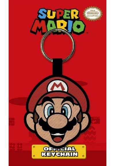 Llavero de Tela - Super Mario (Cara) (6 x 4.5 x 0.2)