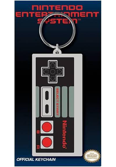 Llavero de Goma - Nintendo (Controlador NES) (6 x 4.5 x 0.2)