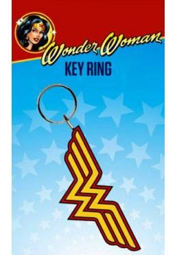 Llavero de Goma - Wonder Woman (Logo) (6 x 4.5 x 0.2)