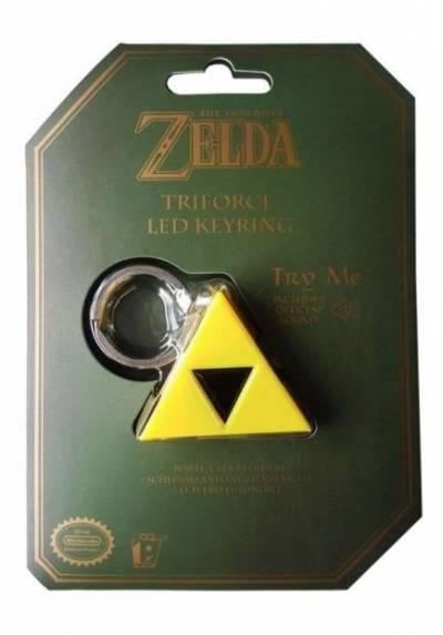 Llavero LED Triforce - La Leyenda de Zelda (3,8 x 4,6 x 1,7)