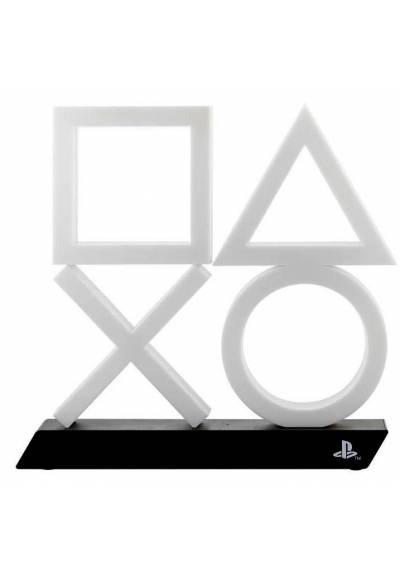 Lampara Sony Playstation Iconos XL - Blanca/Azul