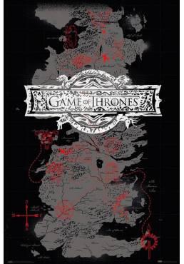 Poster Juego de Tronos - Mapa (POSTER 61 x 91,5)
