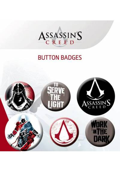 Set de Chapas de Assassin's Creed