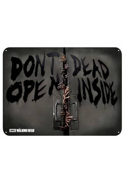 Placa de Metal Zombies - The Walking Dead