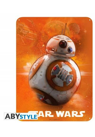 Placa de Metal BB8 - Star Wars