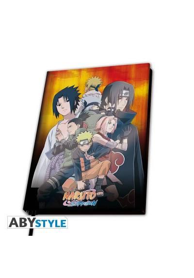 """Cuaderno A5 """"Grupo Konoha"""" - Naruto Shippuden"""