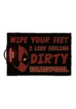 Felpudo Wipe Your Feet I Like Feeling Dirty - Deadpool (40 X 60 X 2)