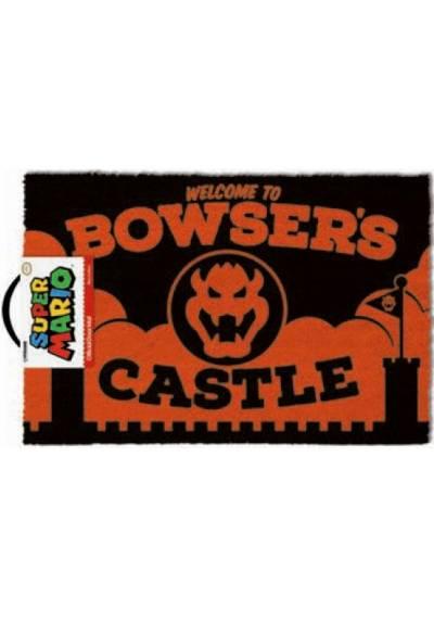 Felpudo Bienvinido al Castillo Bowser - Super Mario (40 X 60 X 2)
