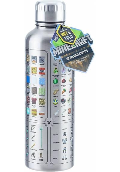 Botella de agua de metal - Minecraft
