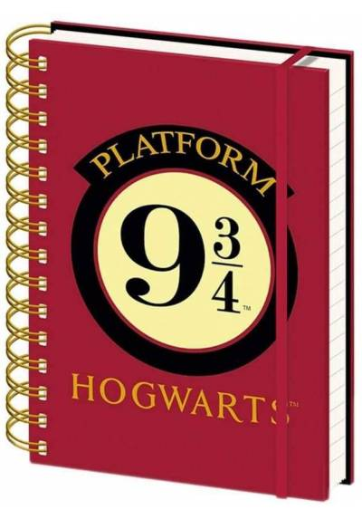 Cuaderno A5 de notas Hogwarts 9 3/4 - Harry Potter