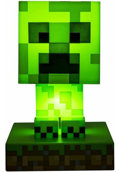 Lampara Mini Creeper 3D - Minecraft