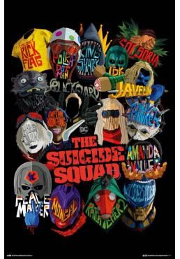 Poster Escuadron Suicida Graficos - DC Comics (POSTER 61 x 91,5)