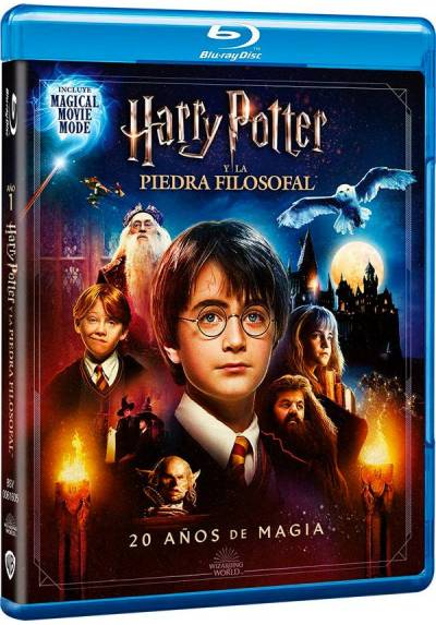 Harry Potter y La Piedra Filosofal + Magical Movie Mode (Blu-ray) (Harry Potter and the Sorcerer's Stone)