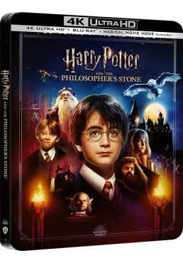 Harry Potter y La Piedra Filosofal + Magical Movie Mode (Steelbook 4k UHD + Blu-ray) (Harry Potter and the Sorcerer's Stone)