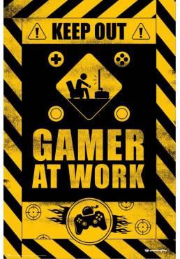 Poster Juegos Gamer At Work  (POSTER 61 x 91,5)