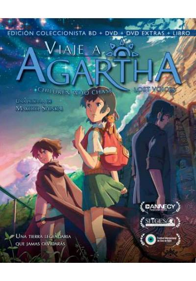 Viaje a Agartha (Blu-ray + DVD + Libro) (Children Who Chase Lost Voices from Deep Below)