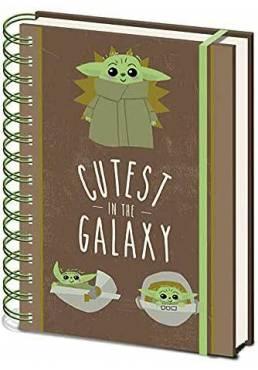 Cuaderno A5 de notas Cutest in the Galaxy - The Mandalorian