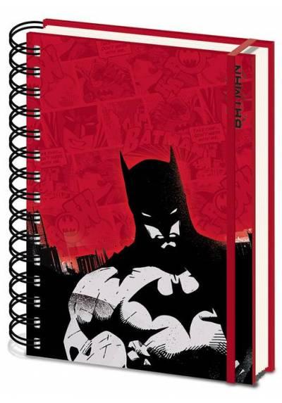 Cuaderno A5 de notas Rojo Batman