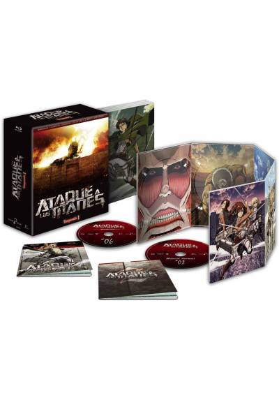 Ataque a los Titanes Temporada 1 Completa (6 Blu-ray + 2 Libros + Extras)