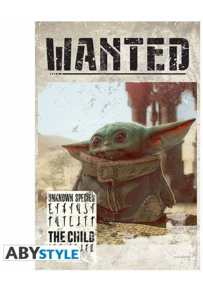 Poster Star wars - The Mandalorian - Se busca el bebe Yoda (POSTER 61 x 91,5)