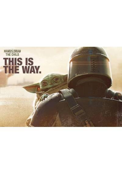 Poster Star wars - The Mandalorian - Mando & The Child (POSTER 91,5 X 61)