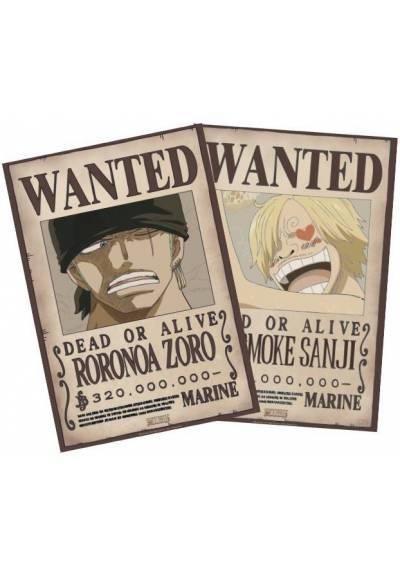 Set 2 Chibi Posters - Wanted Zoro & Sanji - One Piece (POSTER 52x38)