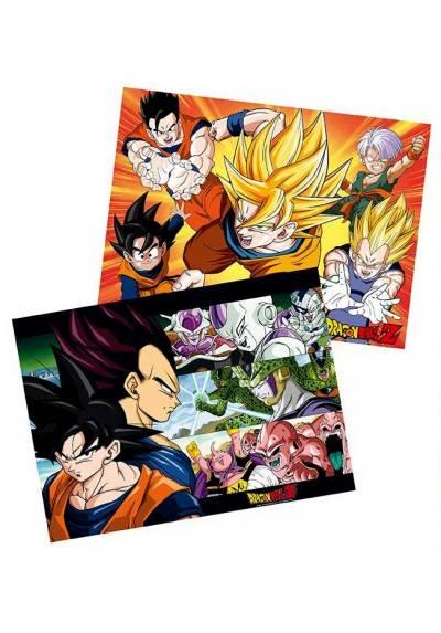 Set 2 Chibi Posters - Saiyans - Dragon Ball (POSTER 52x38)