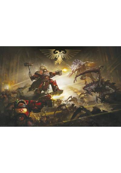The battle of Baal - Warhammer 40K (POSTER 91.5x61)