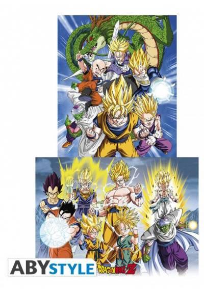 Set 2 Chibi Posters - Groups - Dragon Ball (POSTER 52x38)