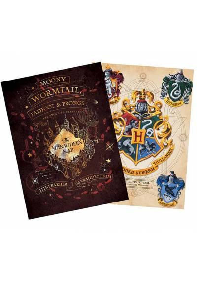 Set 2 Chibi Posters - Crest & Marauders - Harry Potter (POSTER 52x38)