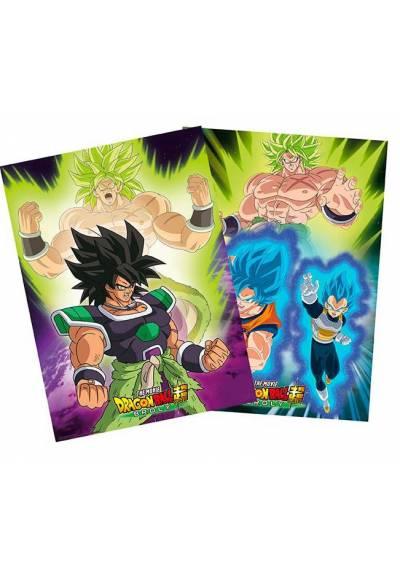 Set 2 Chibi Posters - Broly - Dragon Ball (POSTER 52x38)